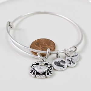 Alex and Ani Silver Crystal Crab Bracelet